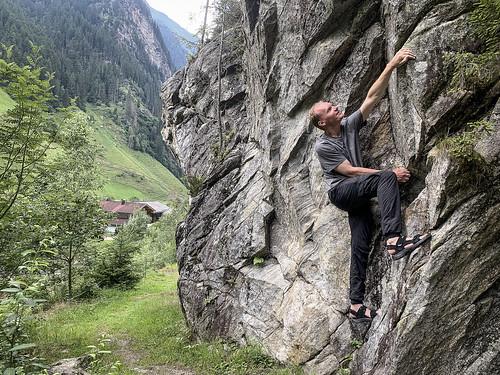 Allan on rock in Ginzling