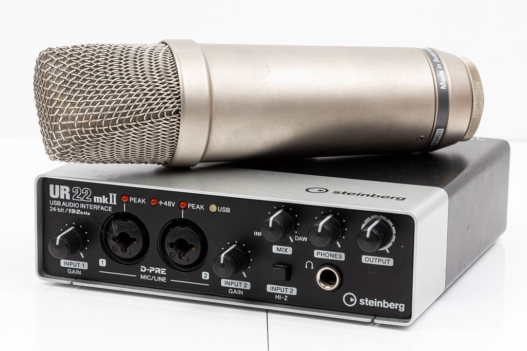Condenser Studio Microphone with Audio Sound Card