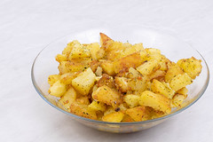 Fried Potatoes in the bowl