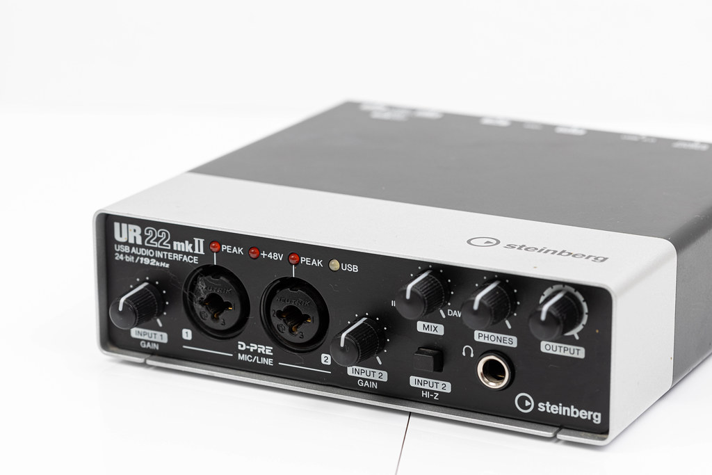 Steinberg Sound Audio Card Interface isolated above white background