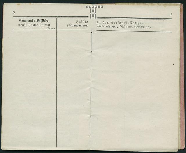 Photo:ArchivTappenZ35Album y, Militärpaß, WWI 1914-1918 By Hans-Michael Tappen