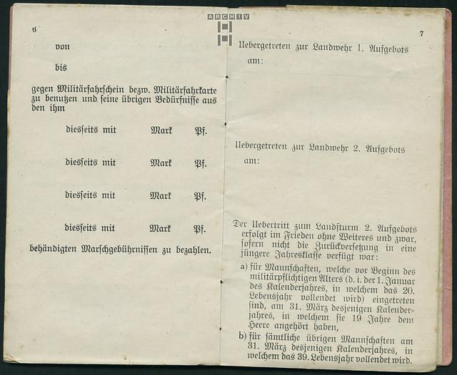 Photo:ArchivTappenZ34Album y, Militärpaß, WWI 1914-1918 By Hans-Michael Tappen