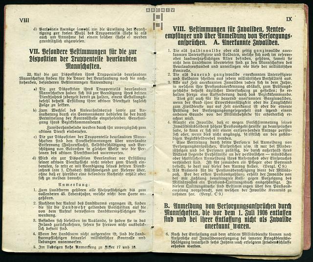 Photo:ArchivTappenZ27Album y, Militärpaß, WWI 1914-1918 By Hans-Michael Tappen