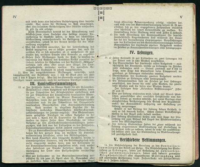 Photo:ArchivTappenZ25Album y, Militärpaß, WWI 1914-1918 By Hans-Michael Tappen