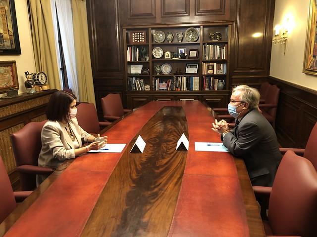 Reunión con la Alcaldesa de Teruel, Enma Buj