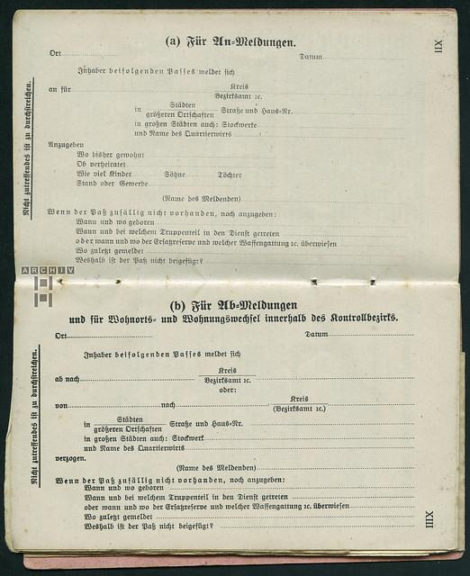 Photo:ArchivTappenZ29Album y, Militärpaß, WWI 1914-1918 By Hans-Michael Tappen