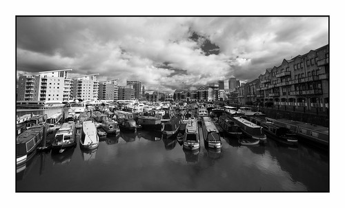 Crowded Mooring in Limehouse …