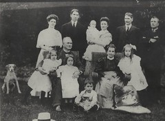 Ayers family around 1910, at the house