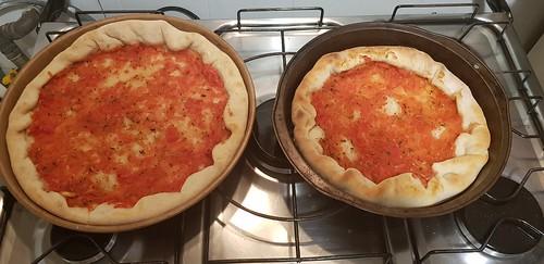 Pizza caseira de camarão