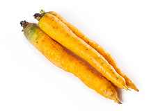 Shimaninjin, type of yellow carrot