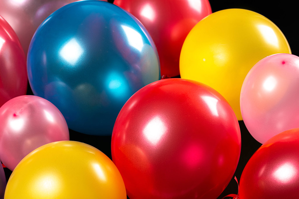 Colorful balloons background- holiday concept