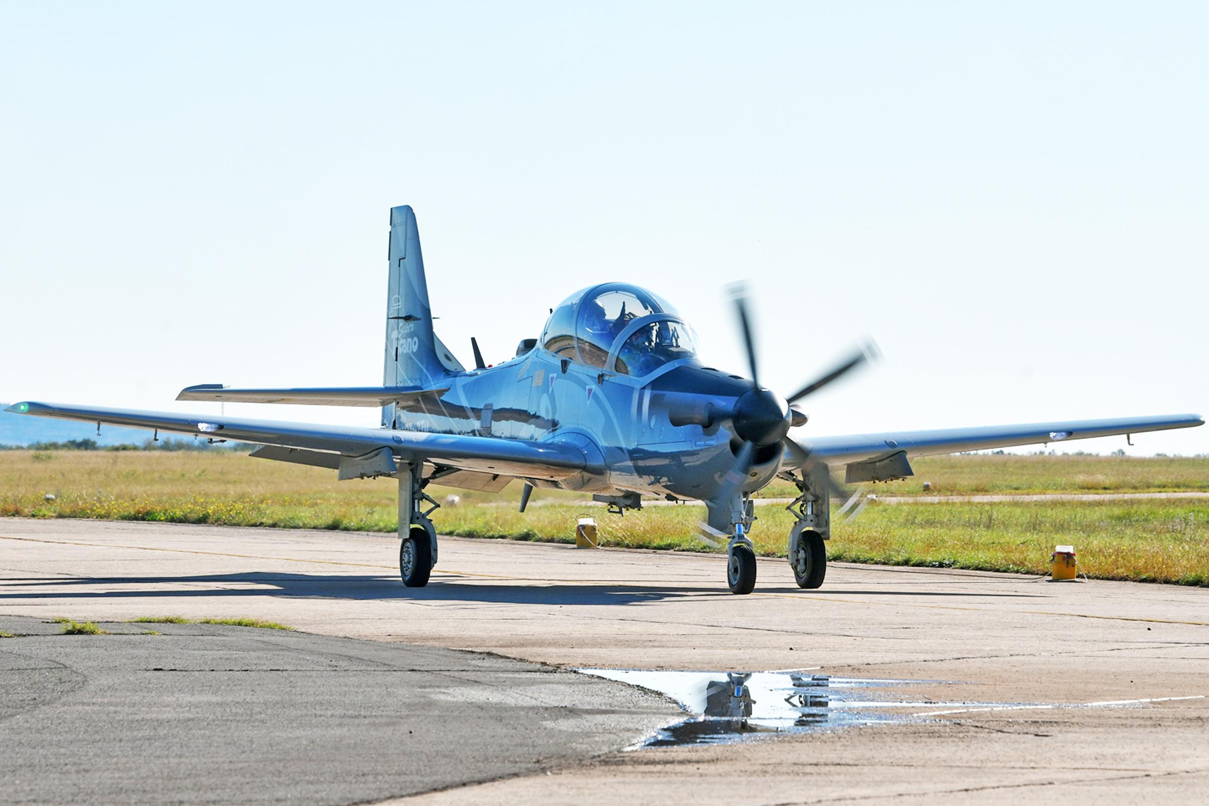 Prezentacija brazilskih aviona A-29 Super Tucano u Zemuniku