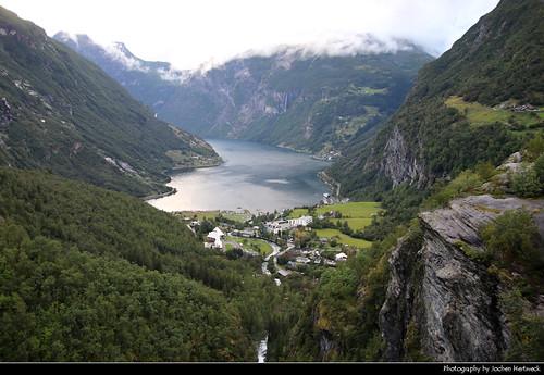 Geirangerfjord seen from Flydalsjuvet, Norway