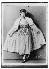 Virginia Valli, evening gown, amber velvet (LOC)