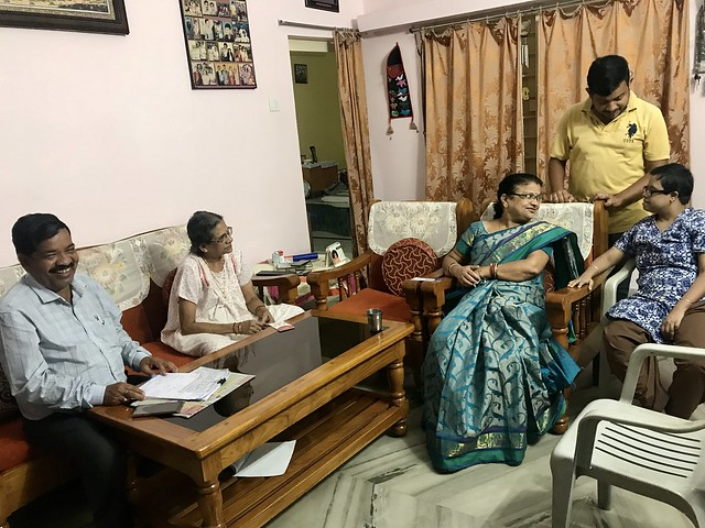 Photo:Mama interacts with Bijay, Kabita and Bapu By Bhakua