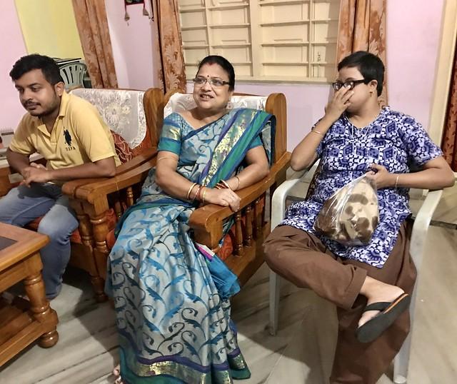 Photo:Bapu, Kabita and Mama By Bhakua