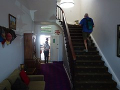Marree Hotel built in 1883. The staircase and entrance hall.