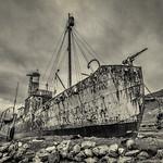 Grytvicken Whaler Wreck by Richard John White
