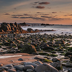 Low tide at Duckpool Beach by Iain Houston