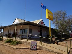 Lyndhurst at the start of the Strzelecki Track to Innamincka. The Lyndhurst Hotel, Post Office and motel. A welcome sight for travellers and road train drivers.