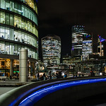 The City at night by Cosmin Dimitriu