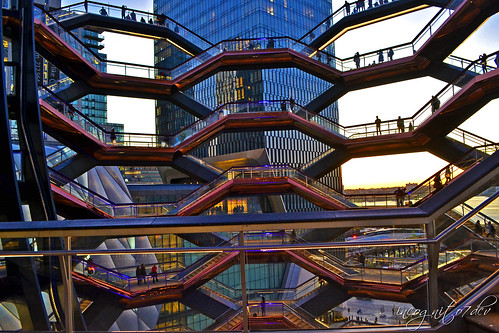 The Vessel at Sunset Hudson Yards Manhattan New York City NY P00690 DSC_2499