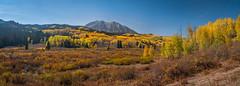 Kebler Pass Gunnison National Forest Crested Butte Peak Autumn Colors Fall Foliage Colorado Aspens Fuji GFX100 Fine Art Landscape Nature Photography!! Huge Panorama Elliot McGucken Master Medium Format Photographer Fuji GFX 100 & Fujinon Fujifilm GF Lens!