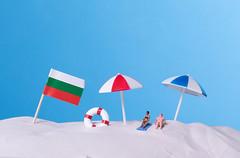 Flag of Bulgaria on the beach