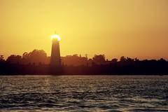 A very very bright lighthouse
