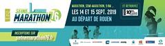 15em compétition, dimanche 5 septembre 2019, semi marathon de Rouen, 445em sur 2140 classés, 1h44,21