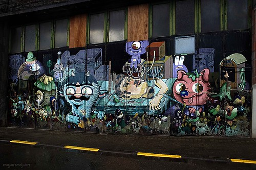 """We make our own monsters"", Street Art Ghent, Belgium"