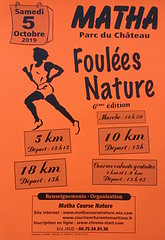 16em compétition, samedi 5 octobre 2019, trail de Matha, 10 km,  47em sur 142 classés