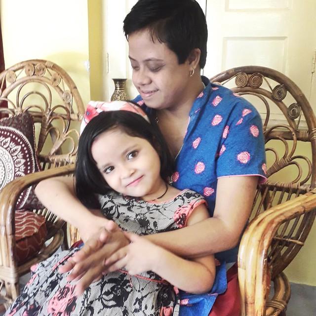 Photo:Mama holding Rani By Bhakua