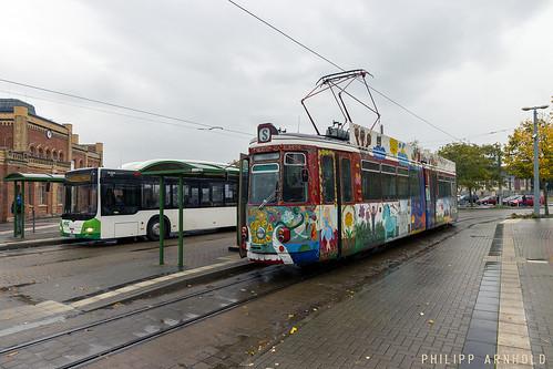 GT4 166 Linie 1 & MAN Lions City Linie 2 Hauptbahnhof (IMG_1546-2)