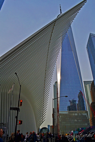 The Oculus & Freedom Tower One 1 WTC World Trade Center Lower Manhattan New York City NY P00691 DSC_2693