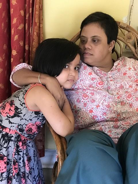 Photo:Mama holds Rani lovingly By Bhakua