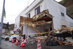 北海道稚内市港2丁目交差点 トラック突っ込む事故後 2