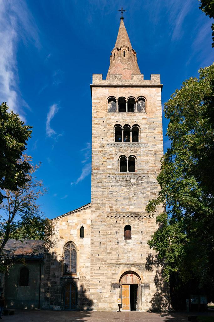 Pfarrei St. Theodul stone church in Sion, Switzerland