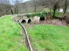 Irrigation canal, Le pont du mas bas, Cévennes, France