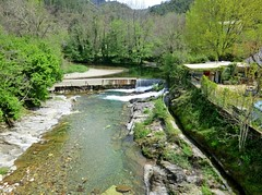 Weir and irrigation canal, Cévennes, France
