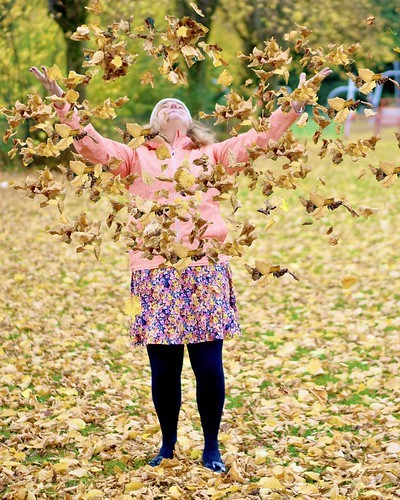Annual throwing of autumn leaves.
