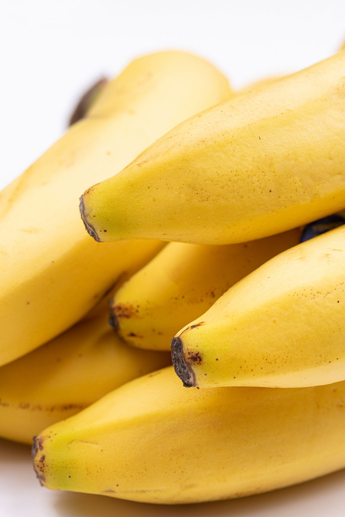 Pile of fresh Bananas in closeup image