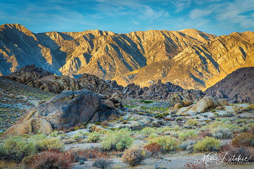 Dawn in the Alabama Hills of the Eastern Sierra