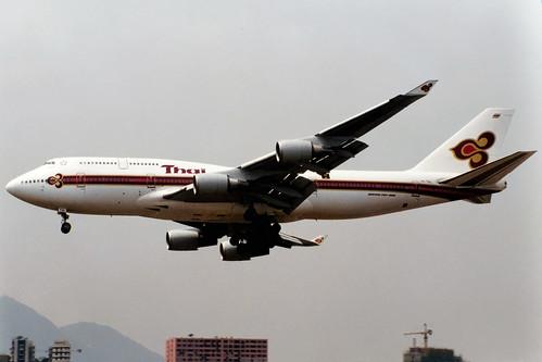 Thai Airways   Boeing 747-400   HS-TGL   Hong Kong Kai Tak