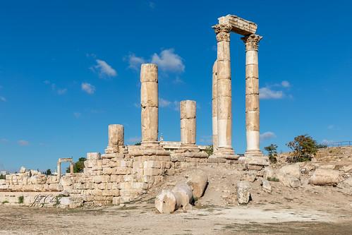 Armchair Traveling - The Temple of Hercules, Amman, Jordan
