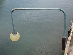 Lamp on Rectangular Pole