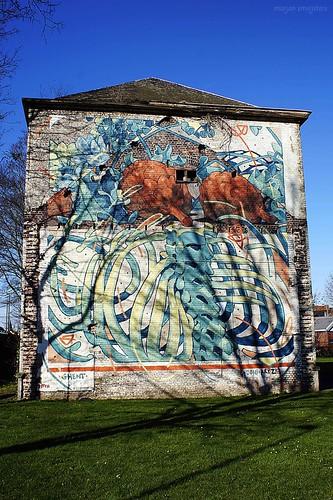 Street Art Ghent, Belgium (Aryz)
