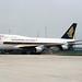 Singapore Airlines | Boeing 747-400 | 9V-SMU | 1000th Boeing 747 logos | Hong Kong Kai Tak