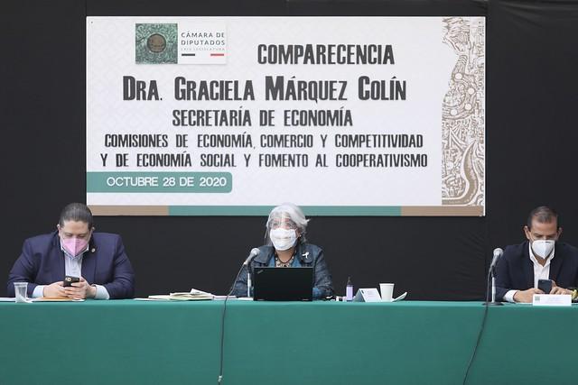 28/10/2020 Comparecencia Sria. Economía Graciela Márquez Colin