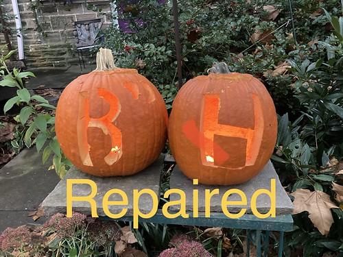 Harris pumpkin repaired